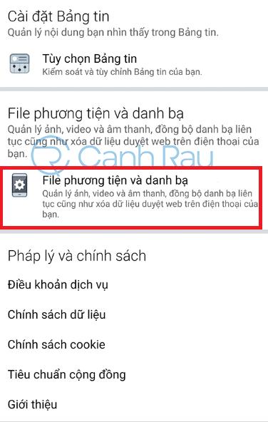 Cách xóa dữ liệu cache Facebook hình 8