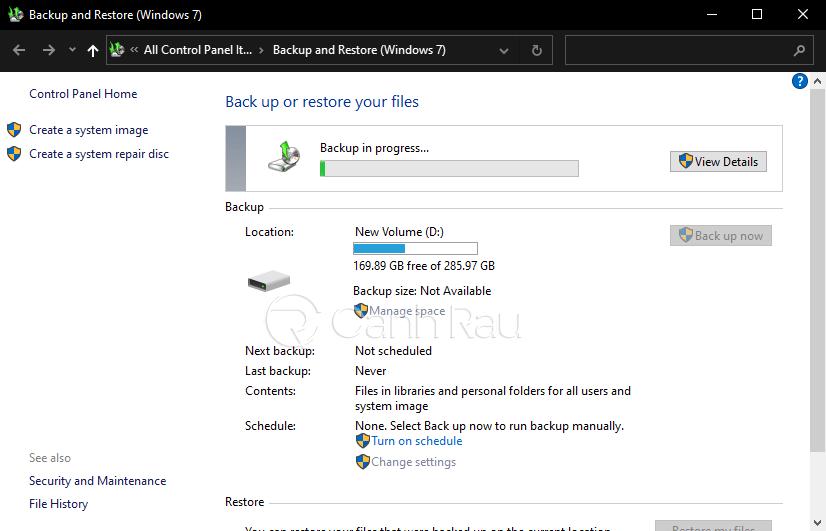 Hướng dẫn cách backup dữ liệu Windows 10 hình 10