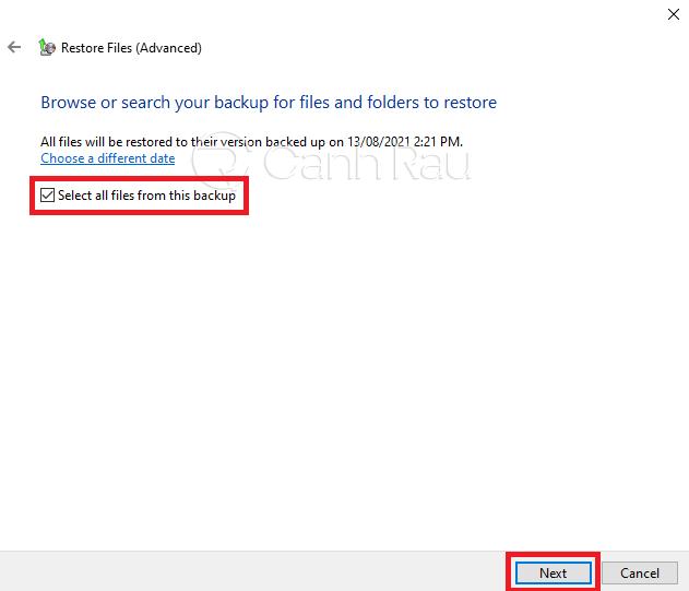 Hướng dẫn cách backup dữ liệu Windows 10 hình 16