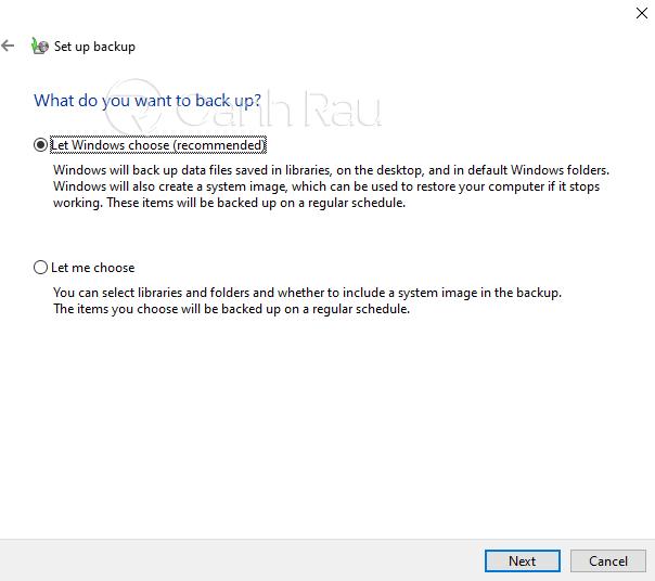 Hướng dẫn cách backup dữ liệu Windows 10 hình 6