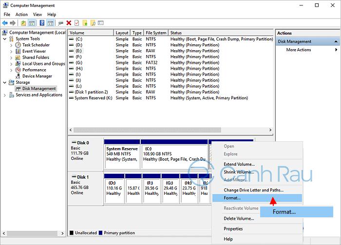 Hướng dẫn cách chia ổ cứng trên Windows 10 hình 15