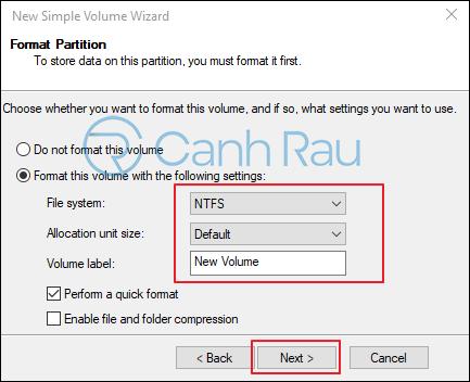Hướng dẫn cách chia ổ cứng trên Windows 10 hình 6