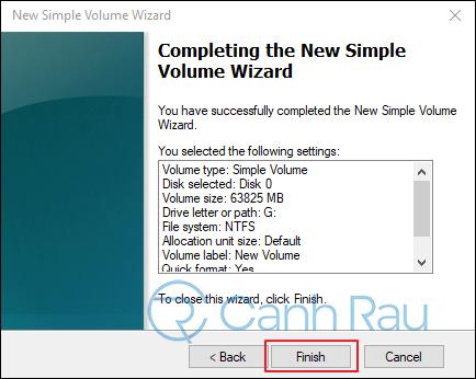 Hướng dẫn cách chia ổ cứng trên Windows 10 hình 7