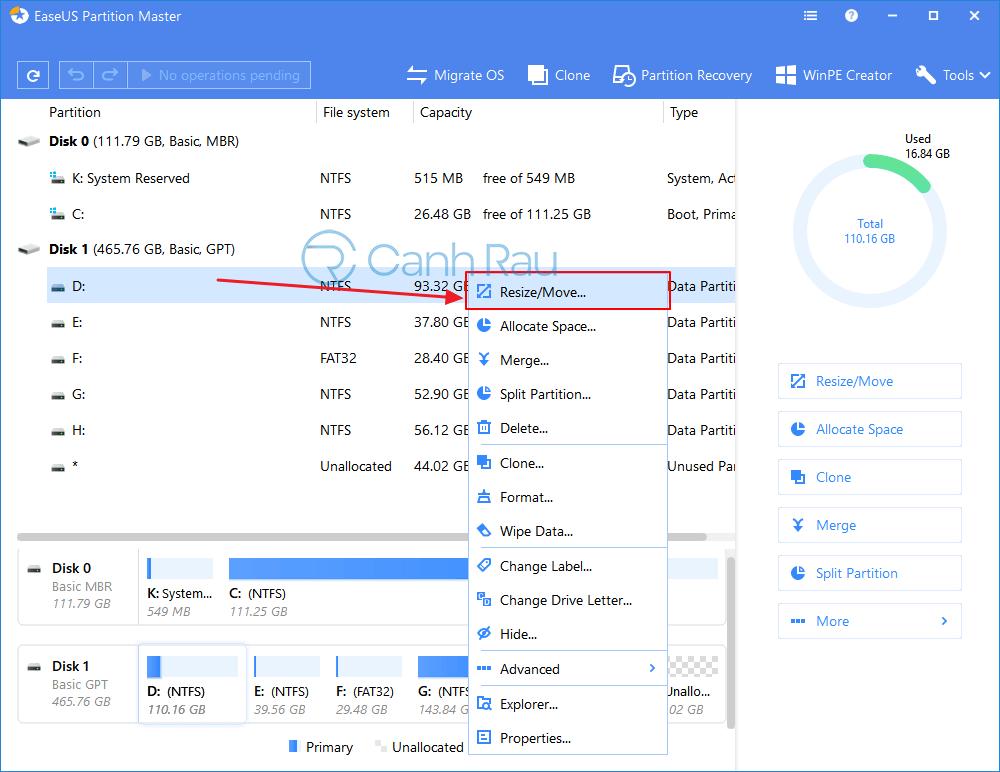 Hướng dẫn cách chia ổ cứng trên Windows 10 hình 8
