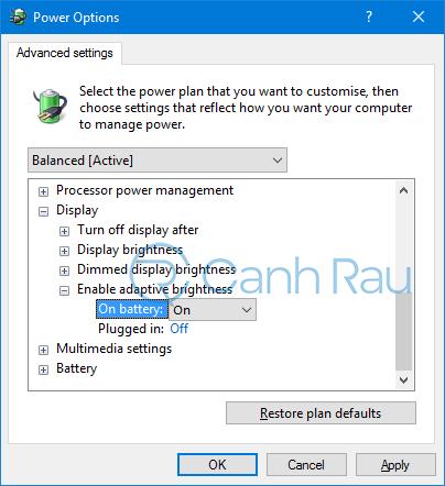 Hướng dẫn cách chỉnh độ sáng màn hình máy tính Windows 10 hình 13