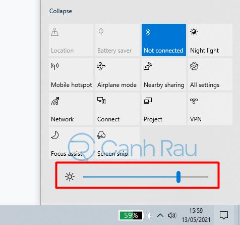 Hướng dẫn cách chỉnh độ sáng màn hình máy tính Windows 10 hình 15