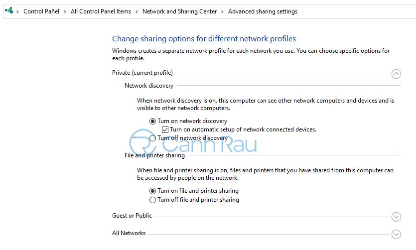 Hướng dẫn cách share máy in Windows 10 hình 7