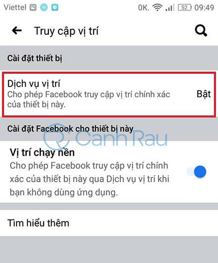 Hướng dẫn cách tắt định vị trên Facebook hình 10