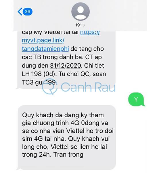 Hướng dẫn đổi SIM 4G Viettel tại nhà hình 3