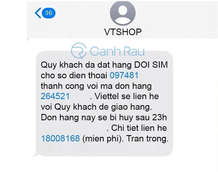 Hướng dẫn đổi SIM 4G Viettel tại nhà hình 4