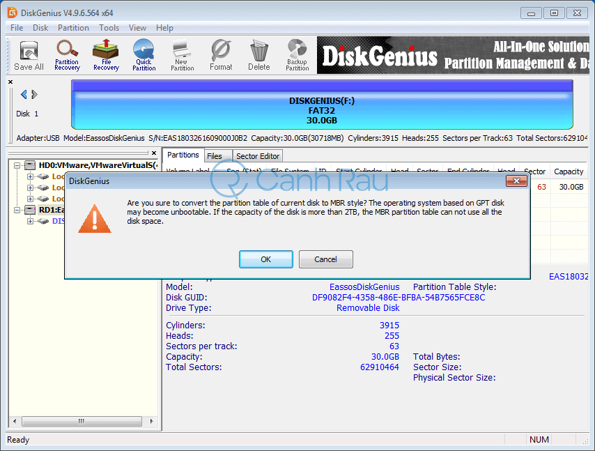 Sửa lỗi Windows cannot be installed to this disk. the selected disk is of the GPT partition style hình 4