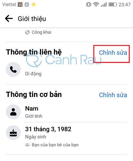 Cách ẩn số điện thoại trên Facebook hình 7