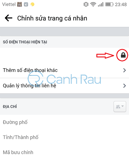Cách ẩn số điện thoại trên Facebook hình 8