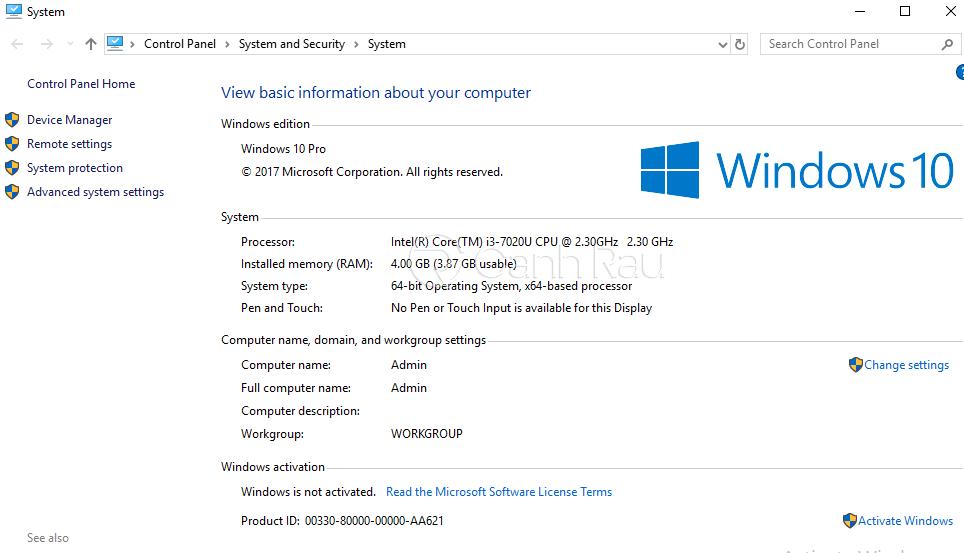 Cách kiểm tra tên máy tính hình 2