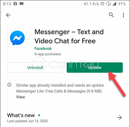 Cách sửa lỗi thường gặp trên Messenger hình 5