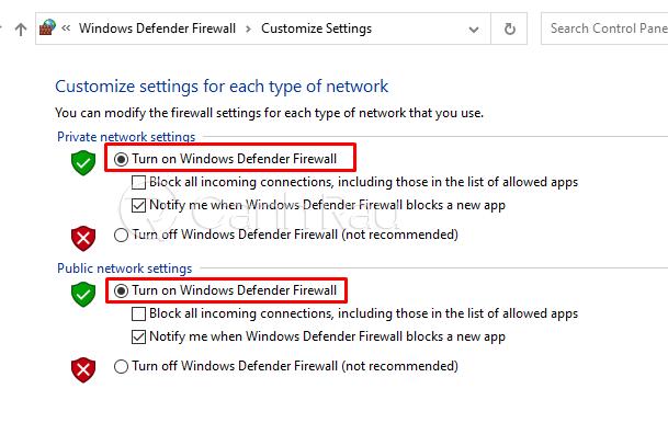 Cách tắt tường lửa Windows 10 hình 28