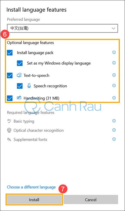 Cách thay đổi cài đặt ngôn ngữ trong Windows 10 hình 7
