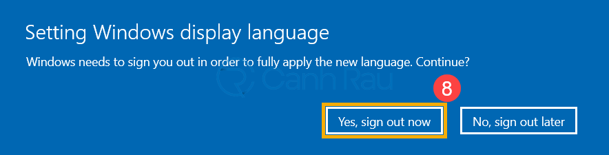 Cách thay đổi cài đặt ngôn ngữ trong Windows 10 hình 8