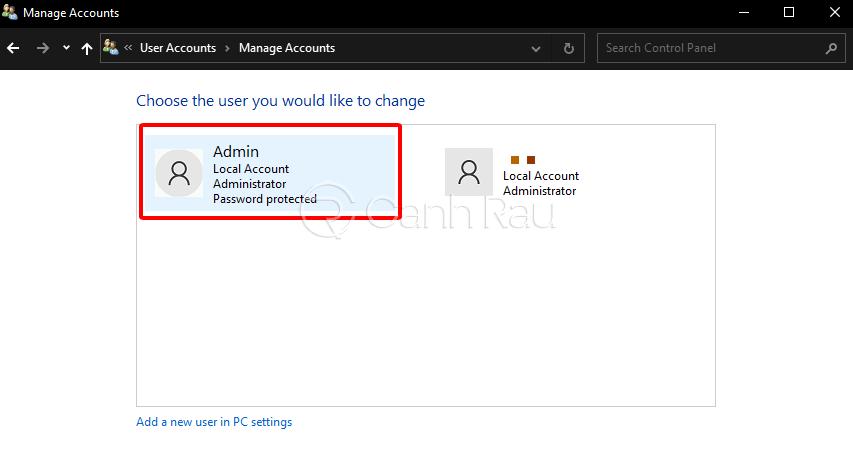 Cách xóa mật khẩu máy tính hình 4