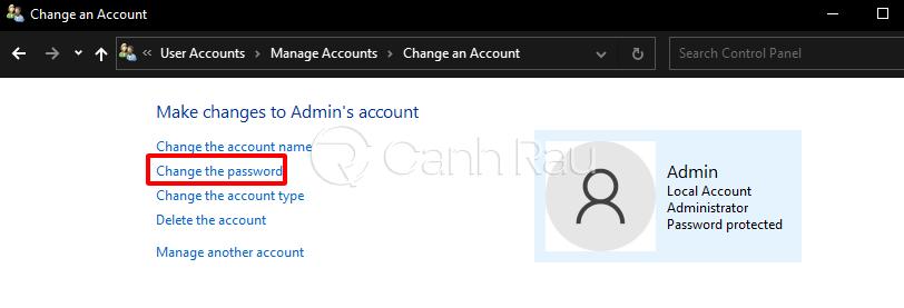 Cách xóa mật khẩu máy tính hình 5