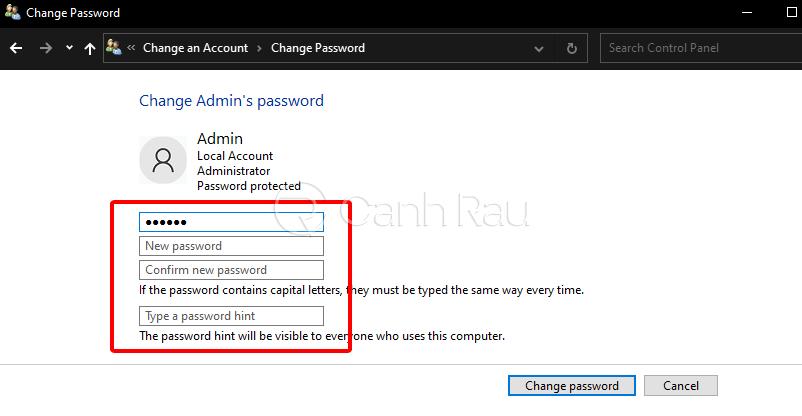 Cách xóa mật khẩu máy tính hình 6