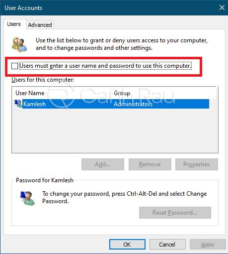 Cách xóa mật khẩu máy tính hình 8