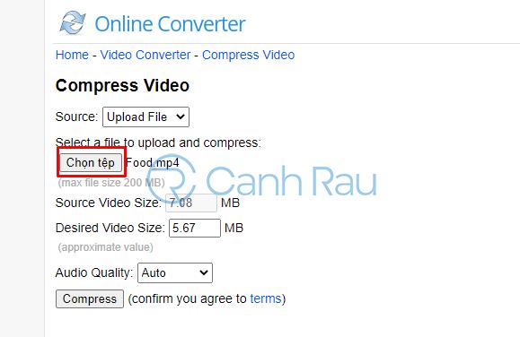 Giảm dung lượng video online hình 10