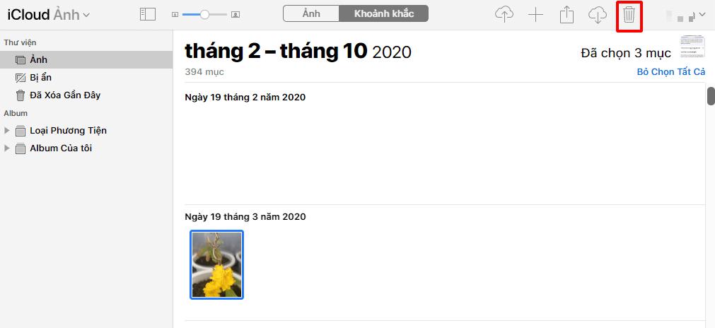 Hướng dẫn cách xóa hình ảnh trên iCloud hình 11