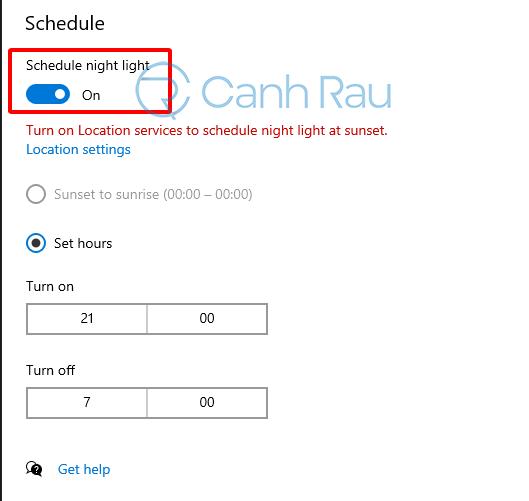 Hướng dẫn bật chế độ ban đêm Night Light cho Windows 10 hình 6