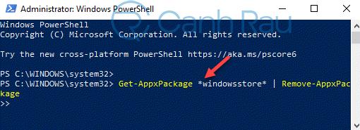 Hướng dẫn cách cài lại Store cho Windows 10 hình 10