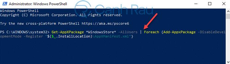 Hướng dẫn cách cài lại Store cho Windows 10 hình 11
