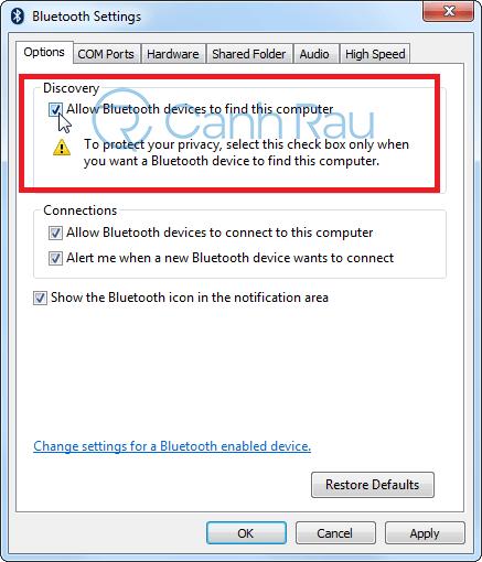 Hướng dẫn cách kết nối Bluetooth trên Windows 7 hình 2