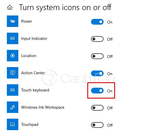 Hướng dẫn cách mở bàn phím ảo trên Windows 10 hình 3