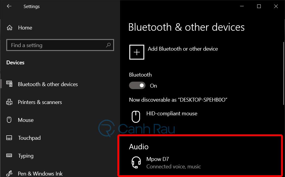 Hướng dẫn kết nối tai nghe Bluetooth với máy tính hình 11