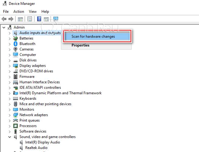 Sửa lỗi máy tính Windows 10 không nhận tai nghe hình 12