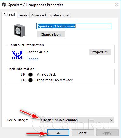 Sửa lỗi máy tính Windows 10 không nhận tai nghe hình 7