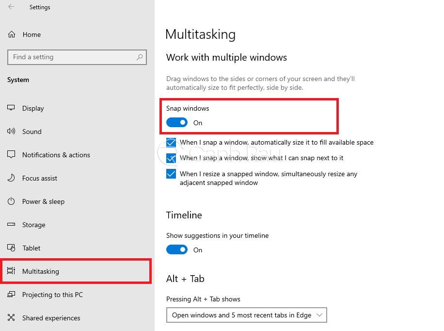 Cách chia đôi màn hình Windows 10 hình 3