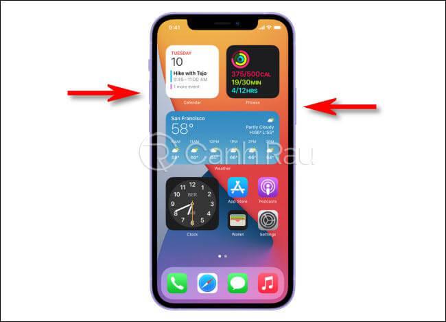 Cách chụp ảnh màn hình iPhone 12 hình 1