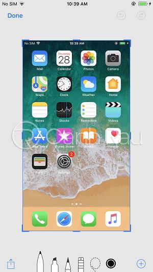 Cách chụp ảnh màn hình iPhone X hình 2
