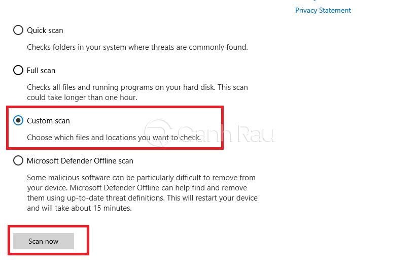 Cách diệt virs trên máy tính Windows 10 hình 7