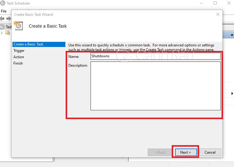 Cách hẹn giờ tắt máy tính hình 13