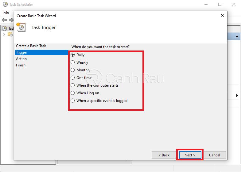 Cách hẹn giờ tắt máy tính hình 14
