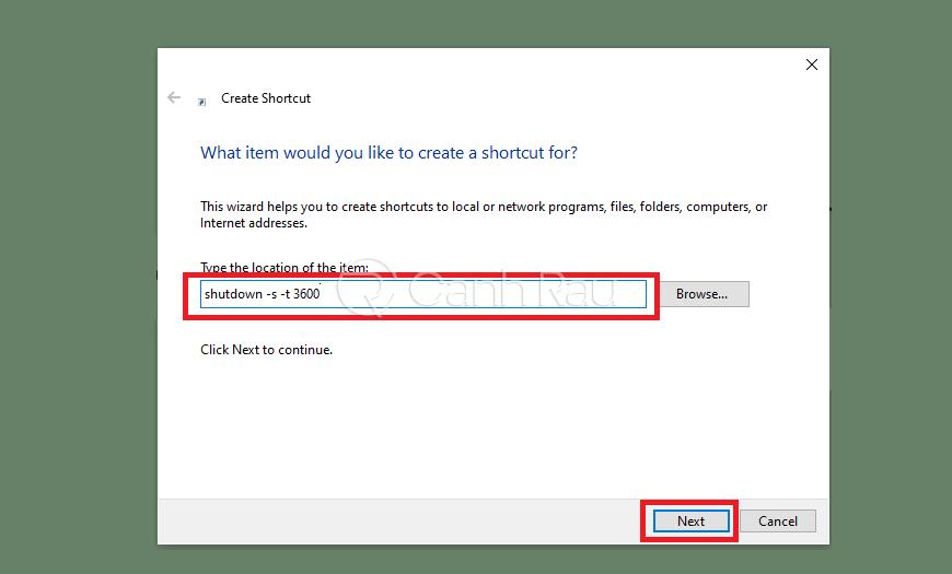 Cách hẹn giờ tắt máy tính hình 8