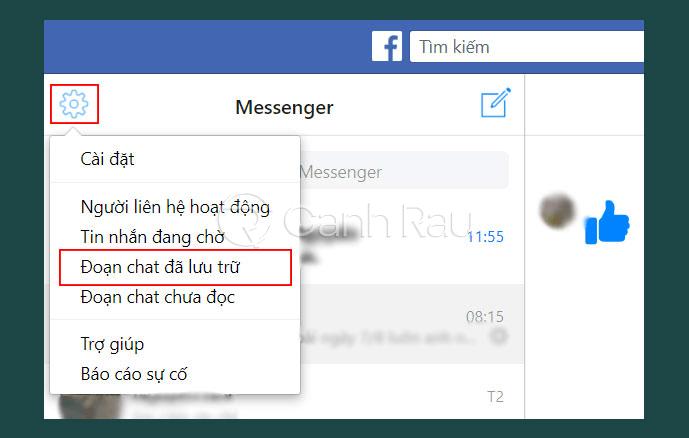 Cách lấy lại tin nhắn đã xóa trên Facebook hình 25