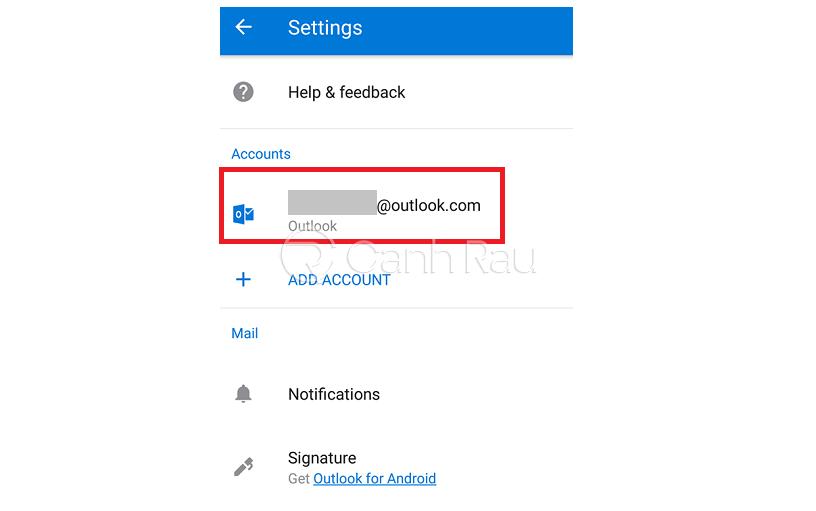 Cách thoát tài khoản Outlook hình 5
