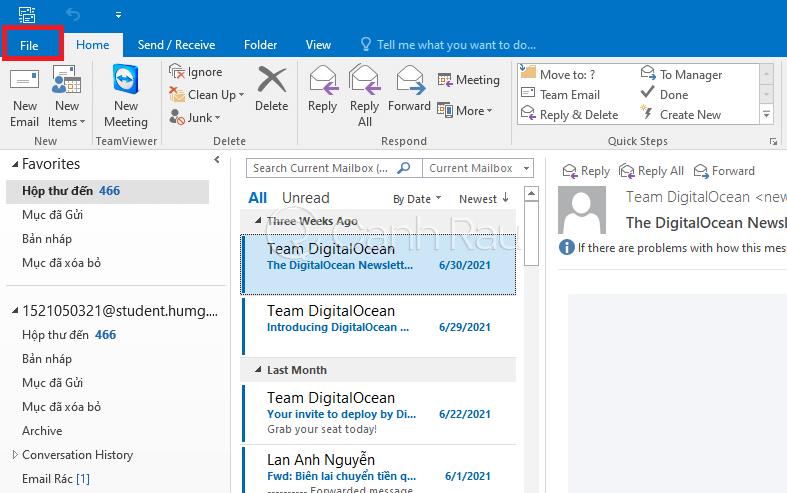 Cách thoát tài khoản Outlook hình 8