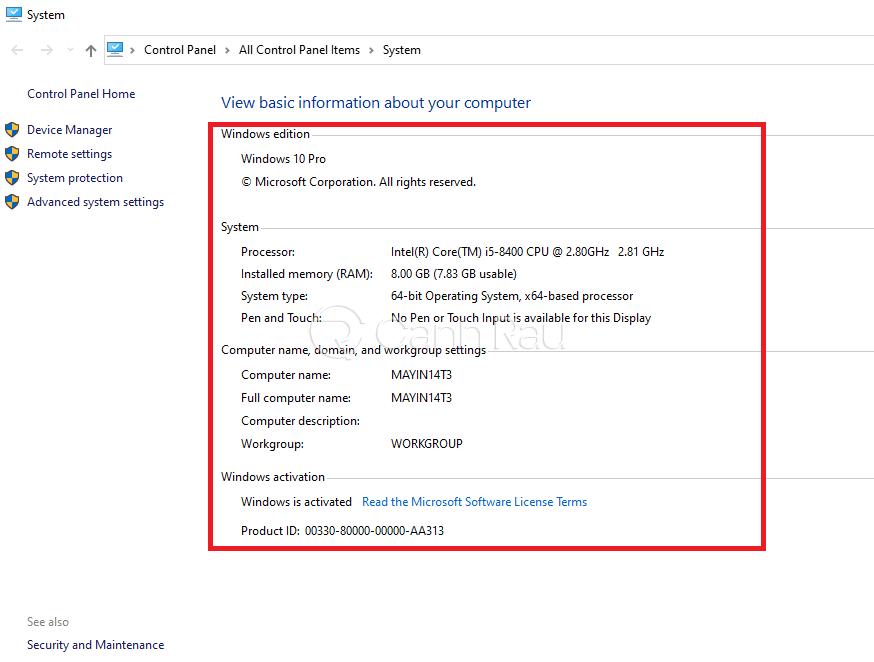 Cách xem cấu hình máy tính Windows 10 hình 2