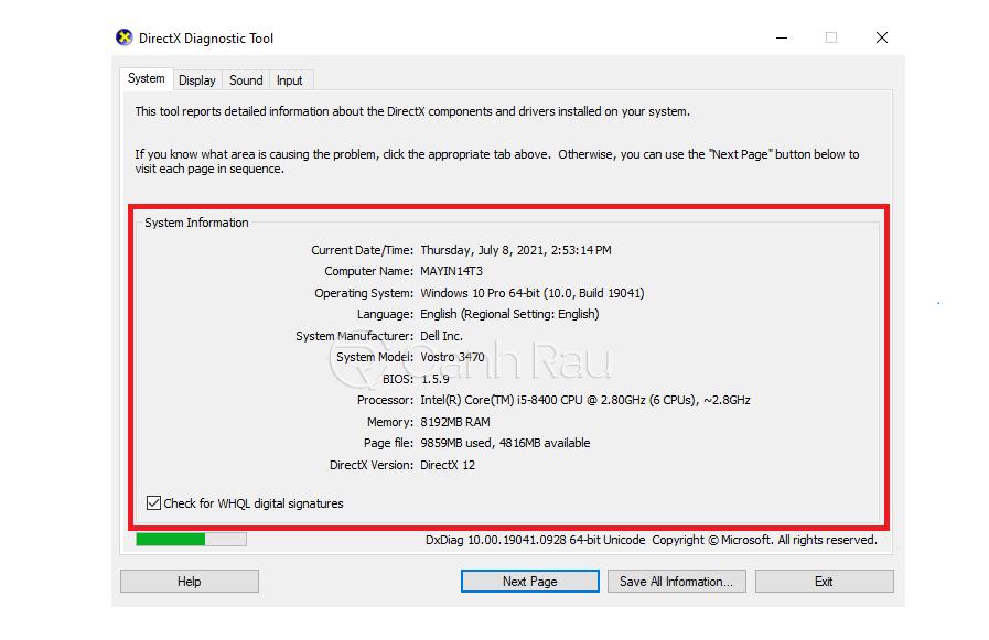 Cách xem cấu hình máy tính Windows 10 hình 4