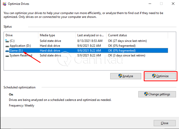 Hướng dẫn cách chống phân mảnh ổ cứng hình 6