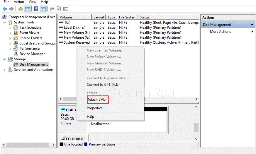 Hướng dẫn cách xóa ổ đĩa ảo trong Windows 10 hình 3